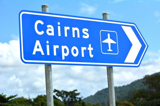 A Road sign, Cairns Airport car hire