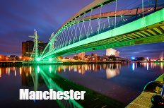 Car Hire Manchester Airport: Millenium Bridge