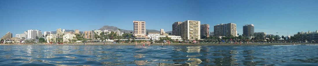 Buildings on Malaga Coast