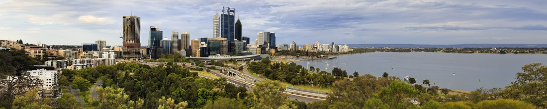 Car Hire Perth, Western Australia view over city