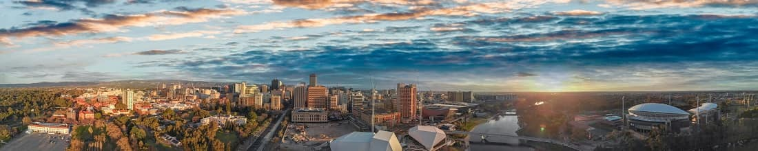 Rent a car in Adelaide: Sunset over Adelaide, South Australia